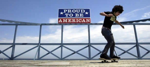 Sam Sklaney of Seaside Heights rides his skateboard on a stage on the Seaside heights boardwalk. Photo by David Gard/ The Times of Trenton