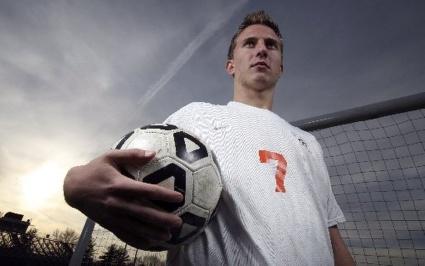 Portrait of a high school athlete. Photo by David Gard/The Star-Ledger