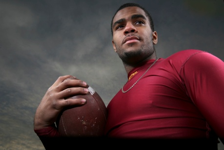 Portrait of a high school athlete. Photo by David Gard/The Star-Ledger