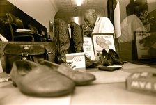 Jackson, the New Brunswick shoe shine man.