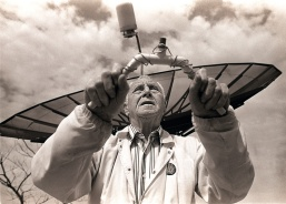 Walter Cross can track Russian spy satellites with his divining rod. Photo by David Gard/Times Beacon Newspapers