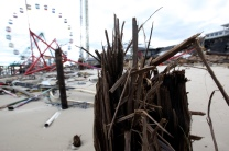 The FunTown Pier in Seaside Heights has been heavily damaged. Wednesday, October 31, 2012. (Photo by David Gard/The Star-Ledger)